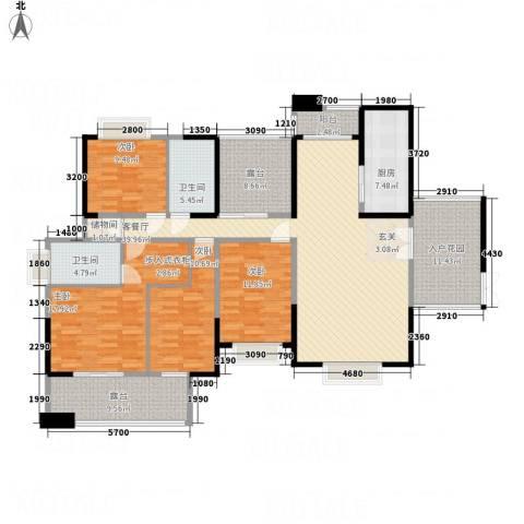 煤碳公寓4室1厅2卫1厨199.00㎡户型图