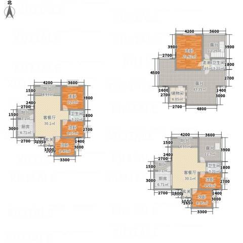 同立紫郡玫瑰园6室2厅3卫2厨348.00㎡户型图