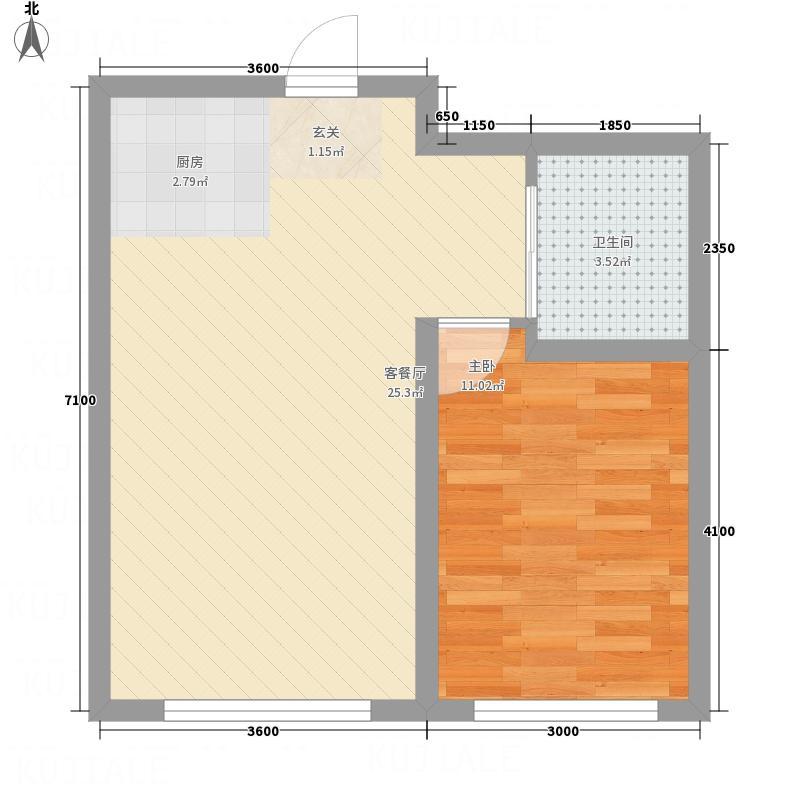 高格蓝湾58.00㎡1户型1室1厅1卫