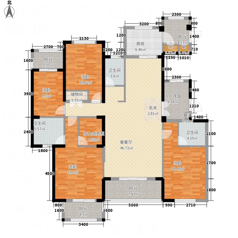 金石华府12131.82㎡12#13#A户型4室2厅3卫1厨
