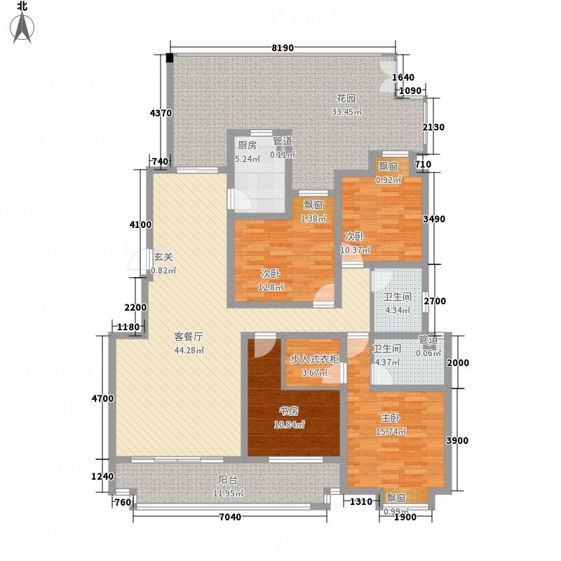 龙吟・华府153.00㎡A1户型4室2厅2卫1厨