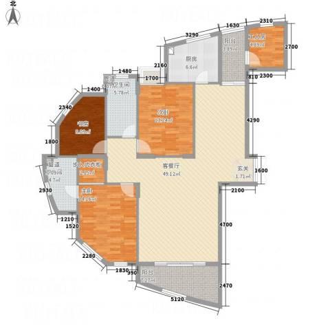 香格里3室1厅2卫1厨135.16㎡户型图