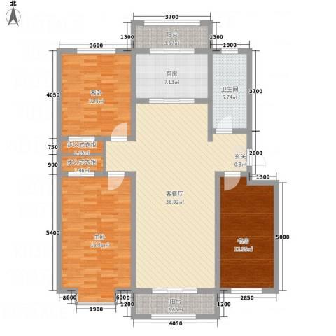 尚港华府2室1厅1卫1厨149.00㎡户型图