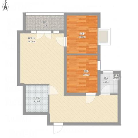 新街坊佳兴园2室1厅1卫1厨83.00㎡户型图