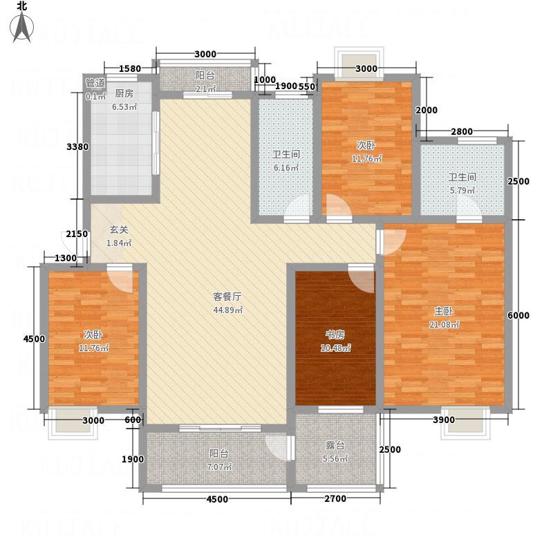 江山星园户型3室