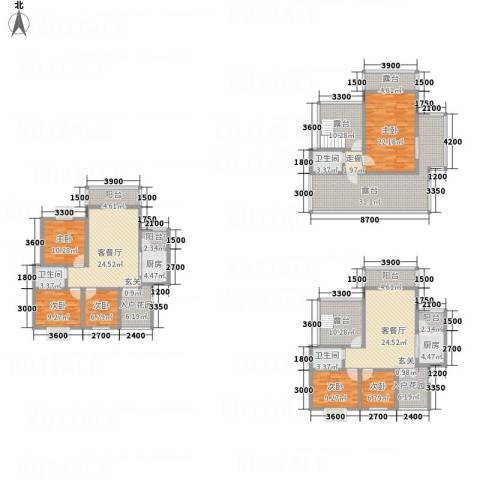 同立紫郡玫瑰园6室2厅3卫2厨317.00㎡户型图