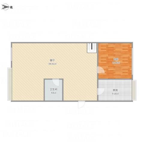 五环花园1室1厅1卫1厨115.00㎡户型图