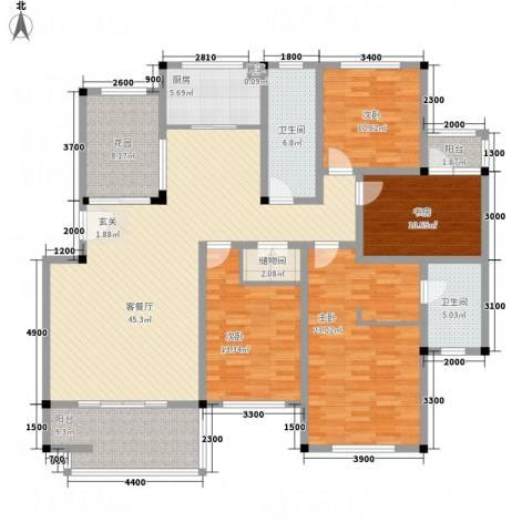 汇龙铭都4室1厅2卫1厨204.00㎡户型图