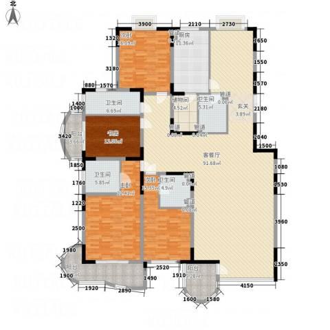 新世纪豪园4室1厅4卫1厨240.00㎡户型图