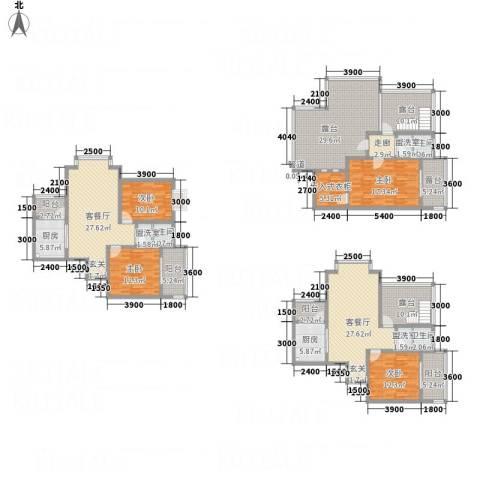 同立紫郡玫瑰园4室5厅3卫2厨304.00㎡户型图