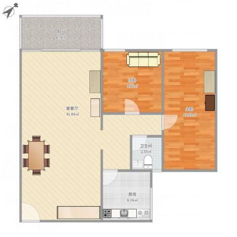 河畔花园26#-4022室1厅1卫1厨111.00㎡户型图