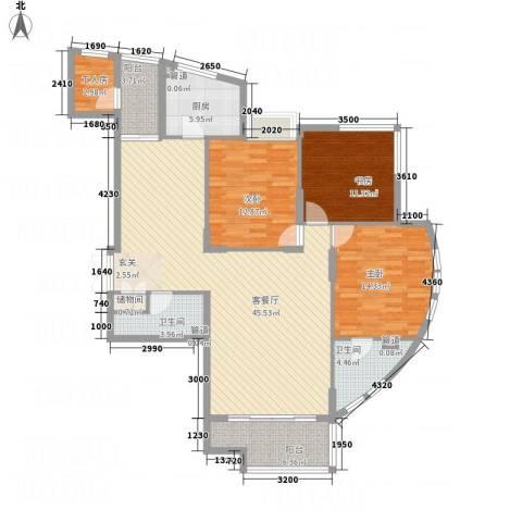 香格里3室1厅2卫1厨126.81㎡户型图