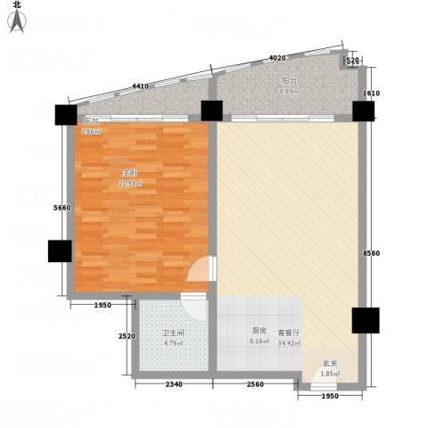三亚湾海韵度假酒店1室1厅1卫0厨70.81㎡户型图