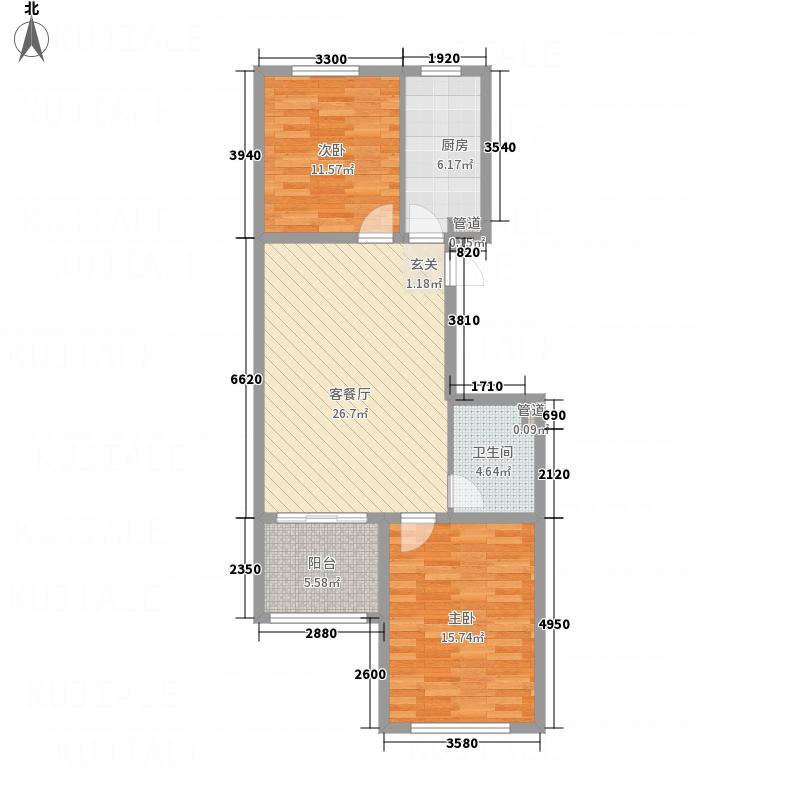 在水一方100.00㎡在水一方户型图E户型2室2厅1卫1厨户型2室2厅1卫1厨