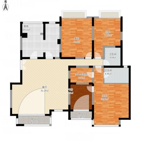浩天天娇源4室1厅2卫1厨234.00㎡户型图