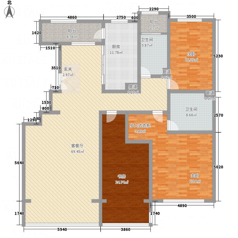 九合国际220.46㎡九合国际户型图户型图3室2厅2卫1厨户型3室2厅2卫1厨