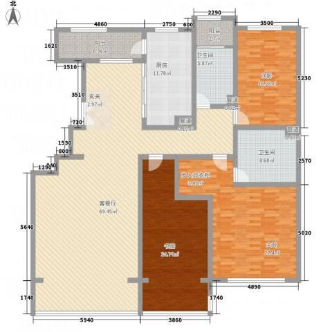 九合国际3室1厅2卫1厨220.00㎡户型图