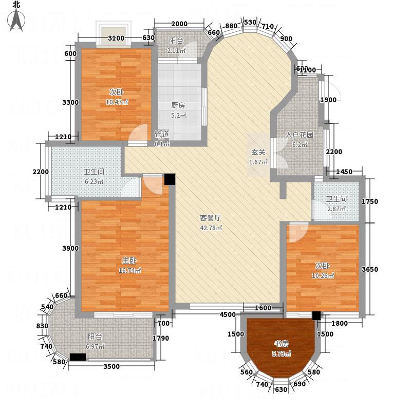 奥林匹克花园135.00㎡高层户型3室2厅2卫
