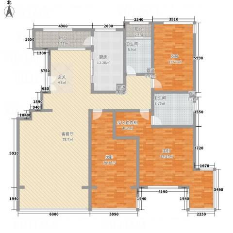 九合国际3室1厅2卫1厨229.00㎡户型图