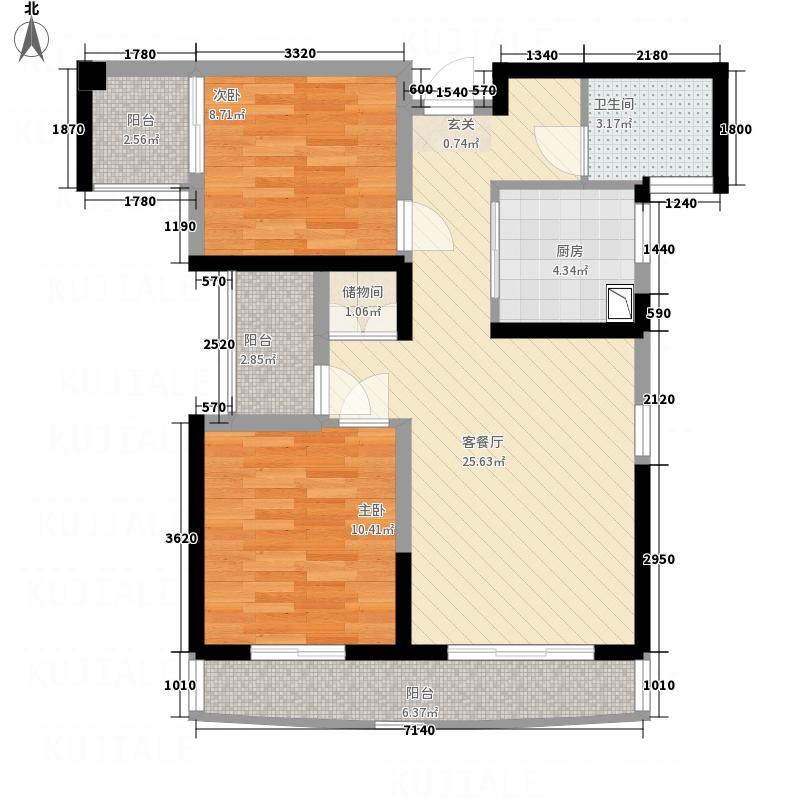博仕后公馆8.00㎡户型3室