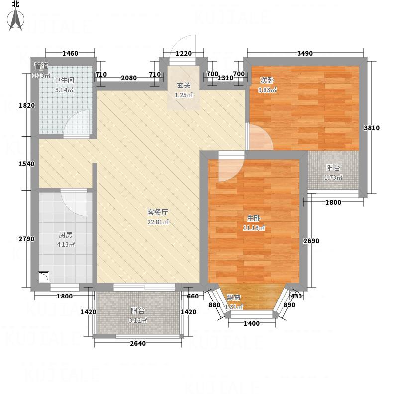 佳和新城回迁楼55.00㎡佳和新城回迁楼1室户型1室