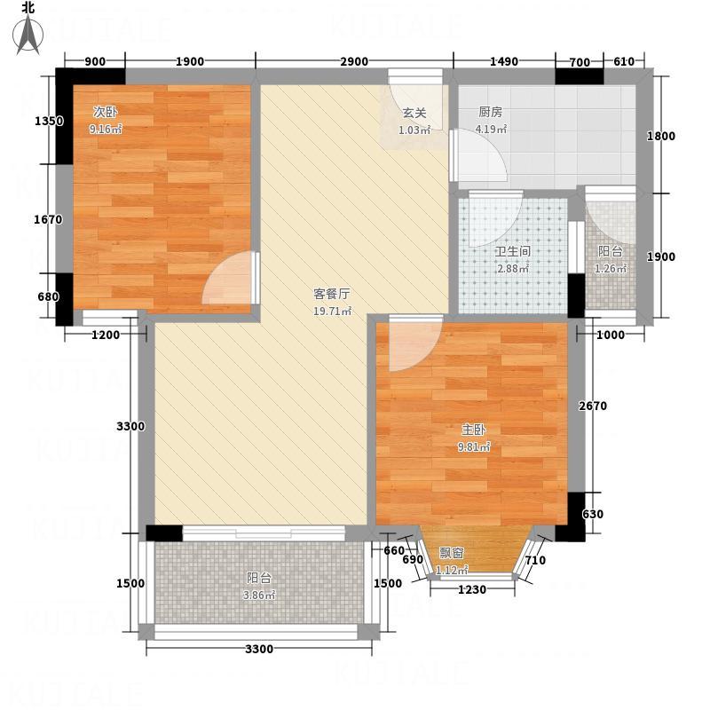 正泰花苑正泰花苑户型图201007240843282室1厅户型2室1厅