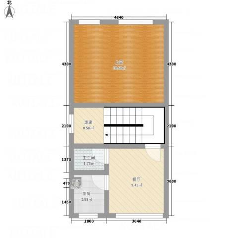假日江南雅筑1厅1卫1厨61.00㎡户型图
