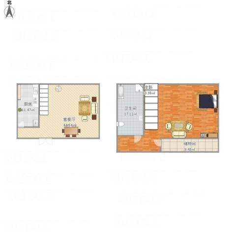 万豪君悦府1室1厅1卫1厨188.00㎡户型图