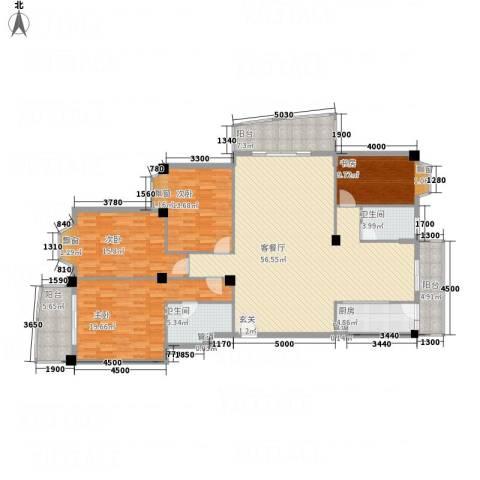鑫涛苑4室1厅2卫1厨155.00㎡户型图