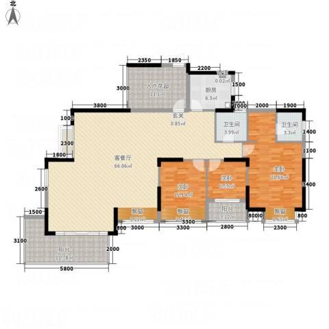 熙龙小镇3室1厅2卫1厨168.00㎡户型图