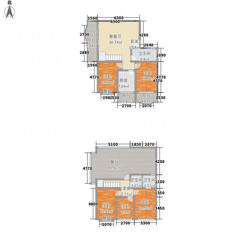 祥和家园174.17㎡G栋B1户型2室1厅1卫1厨