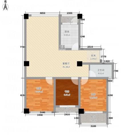 侨光苑3室1厅1卫1厨132.00㎡户型图