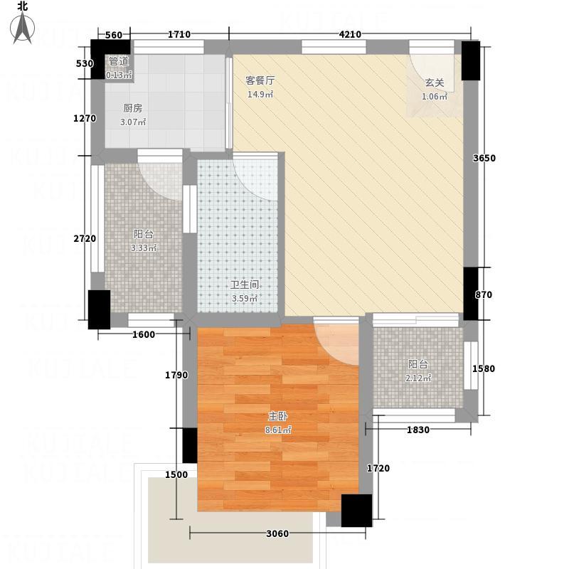 蓝山锦湾81.00㎡一期户型1室