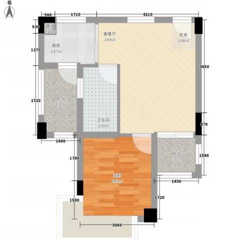 蓝山锦湾1室1厅1卫1厨81.00㎡户型图