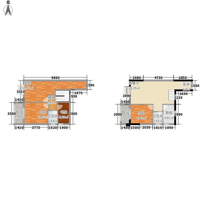 宝莲大厦136.60㎡12#2单元C2户型4室2厅2卫1厨