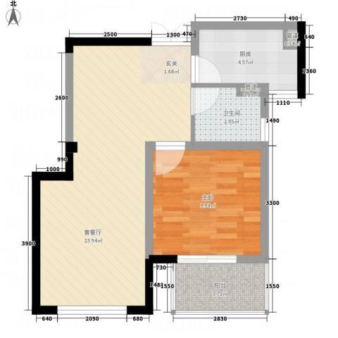 丰臣国际广场1室1厅1卫1厨66.00㎡户型图