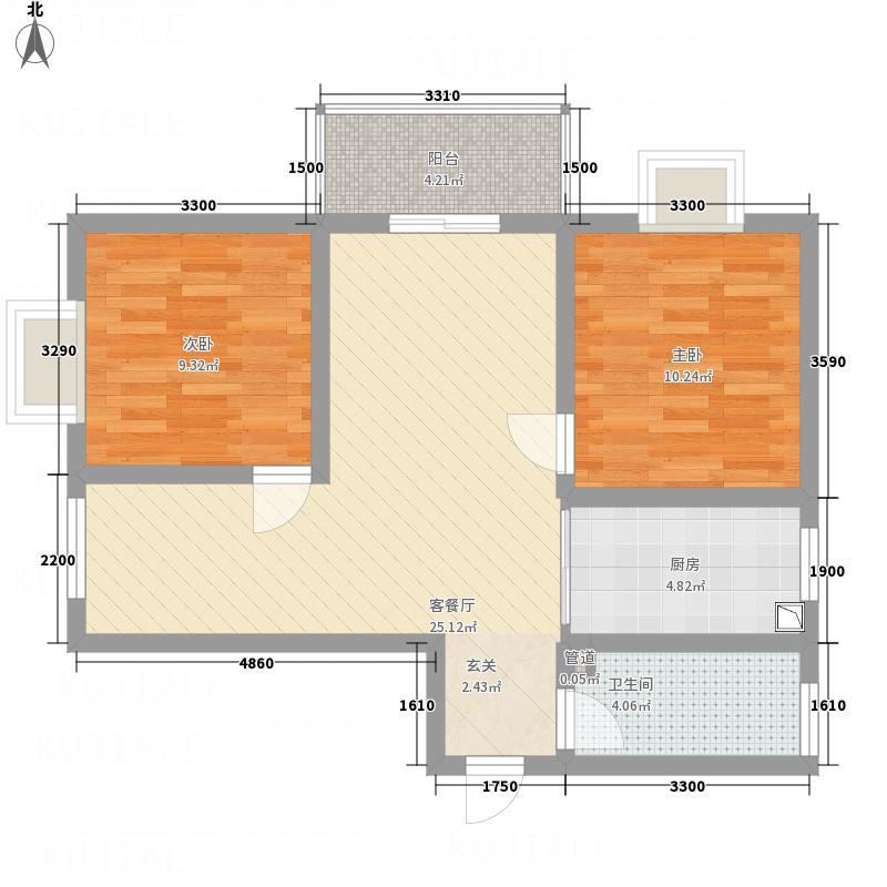 欧风园悦2-2-1-1户型2室
