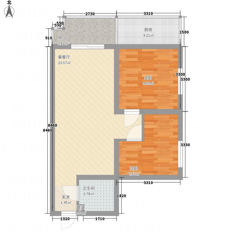 欧风园悦2-2-1-3户型2室