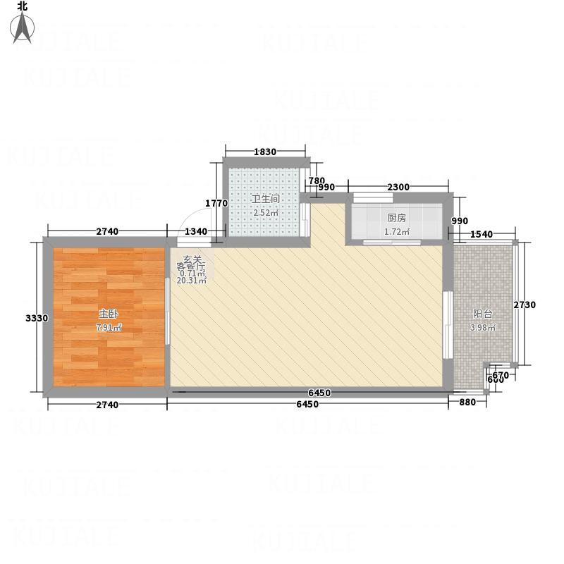 欧风园悦1-2-1-2户型1室