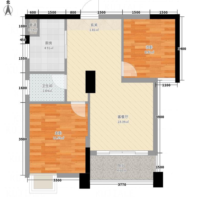 凯旋帝景两居室27户型2室1厅1卫1厨