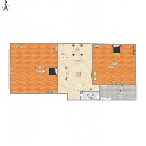 东馨园2室1厅1卫1厨544.00㎡户型图