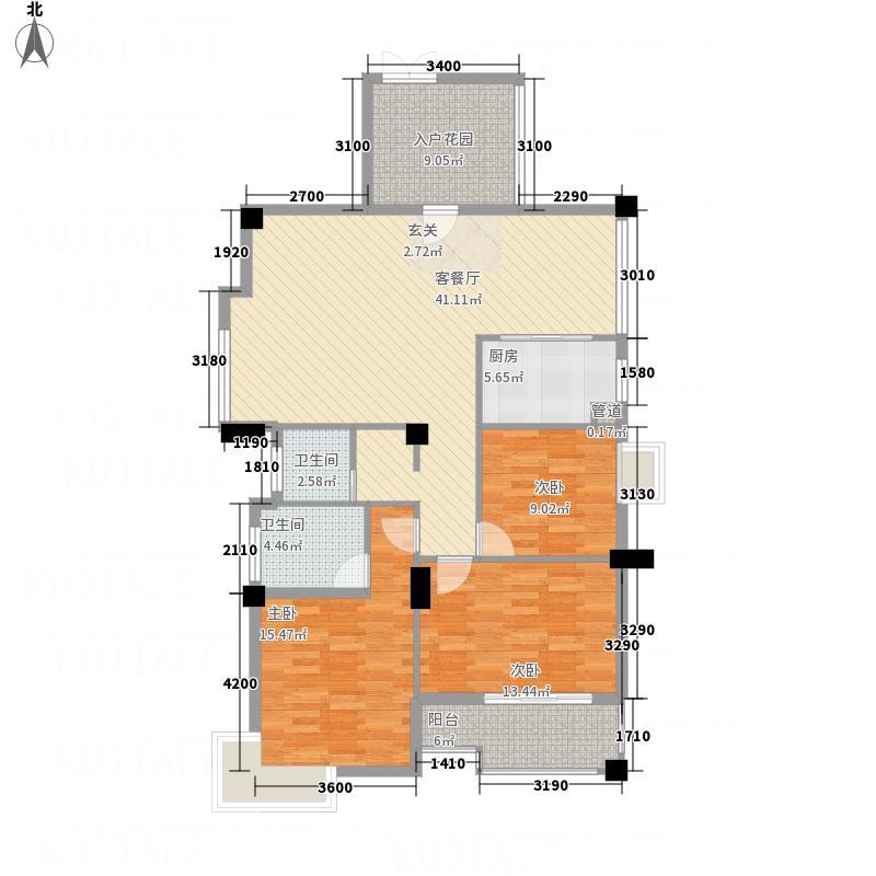 金色家园13.00㎡B3-3户型3室2厅2卫1厨