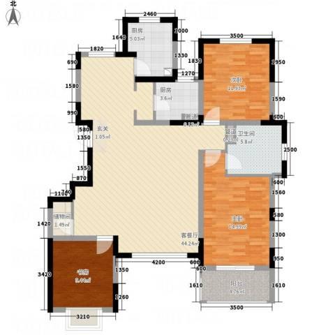 五矿・铂海岸3室1厅1卫2厨145.00㎡户型图