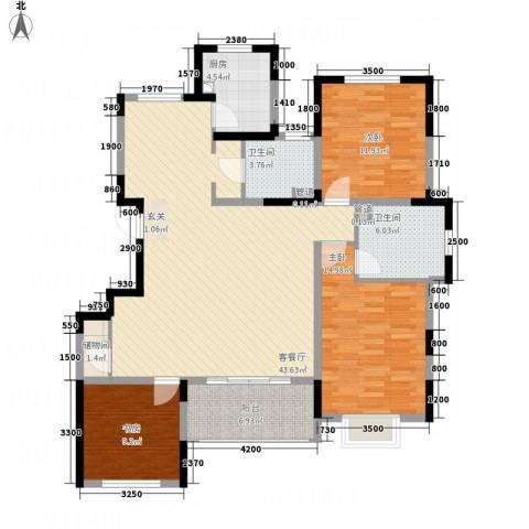 五矿・铂海岸3室1厅2卫1厨146.00㎡户型图
