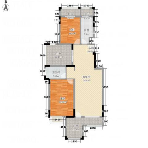 淮北凤凰城2室1厅1卫1厨138.00㎡户型图