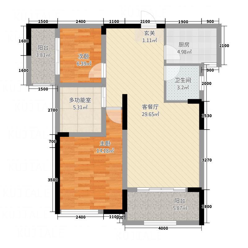 碧海兰庭117.34㎡12栋B4户型3室2厅2卫