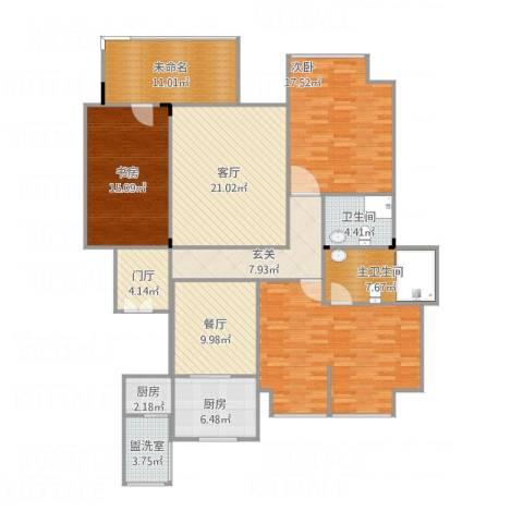 林隐天下3室3厅1卫2厨182.00㎡户型图
