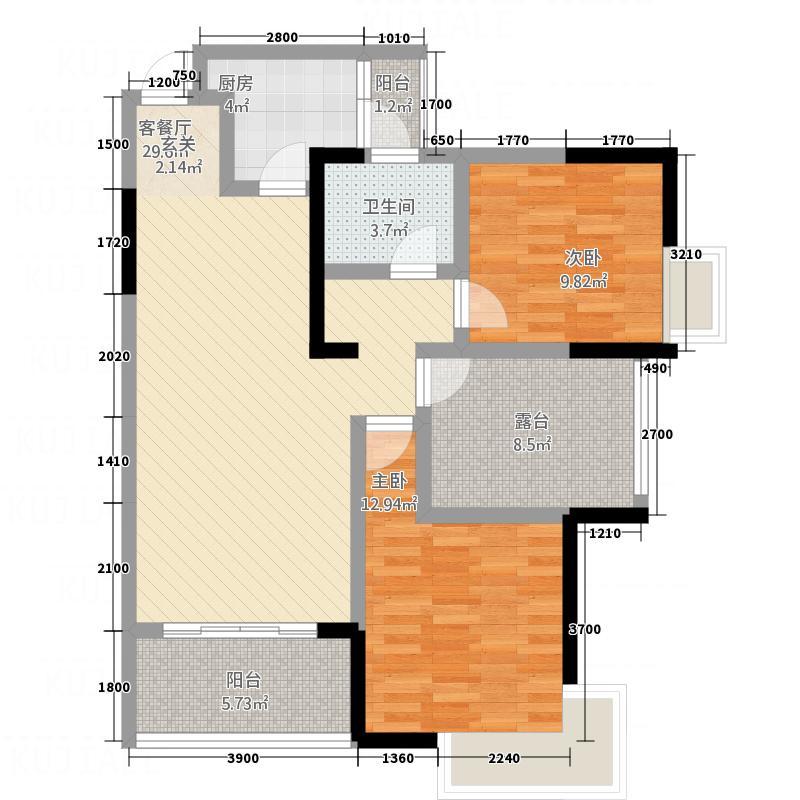 唯一国际4#住宅一单元9层02号房户型