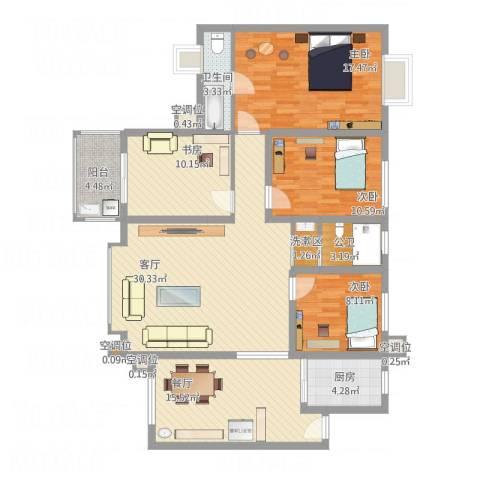 禹洲领海4室2厅1卫1厨157.00㎡户型图