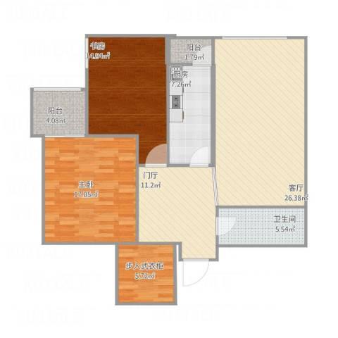 开阳里小区2室1厅1卫1厨127.00㎡户型图